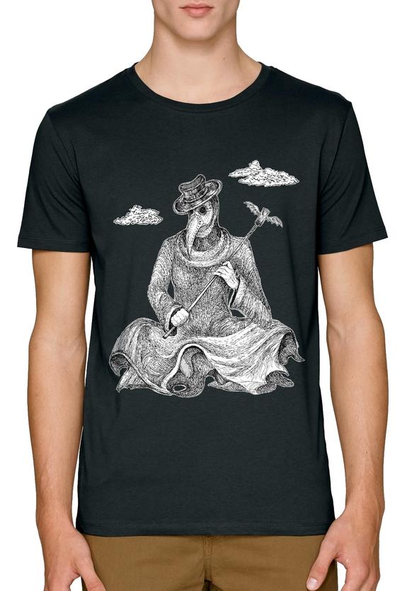 Beware the plague covid-19 черни мъжки тениски с щампи