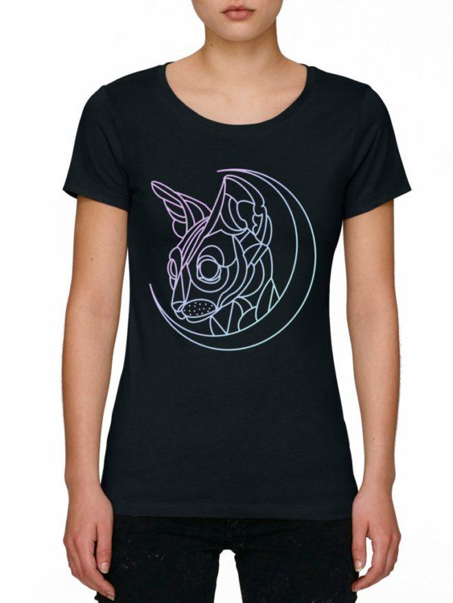 дамски тениски с щампи котки