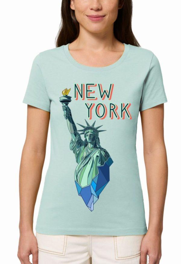 дамски тениски с щампи Ню Йорк статуя на свободата