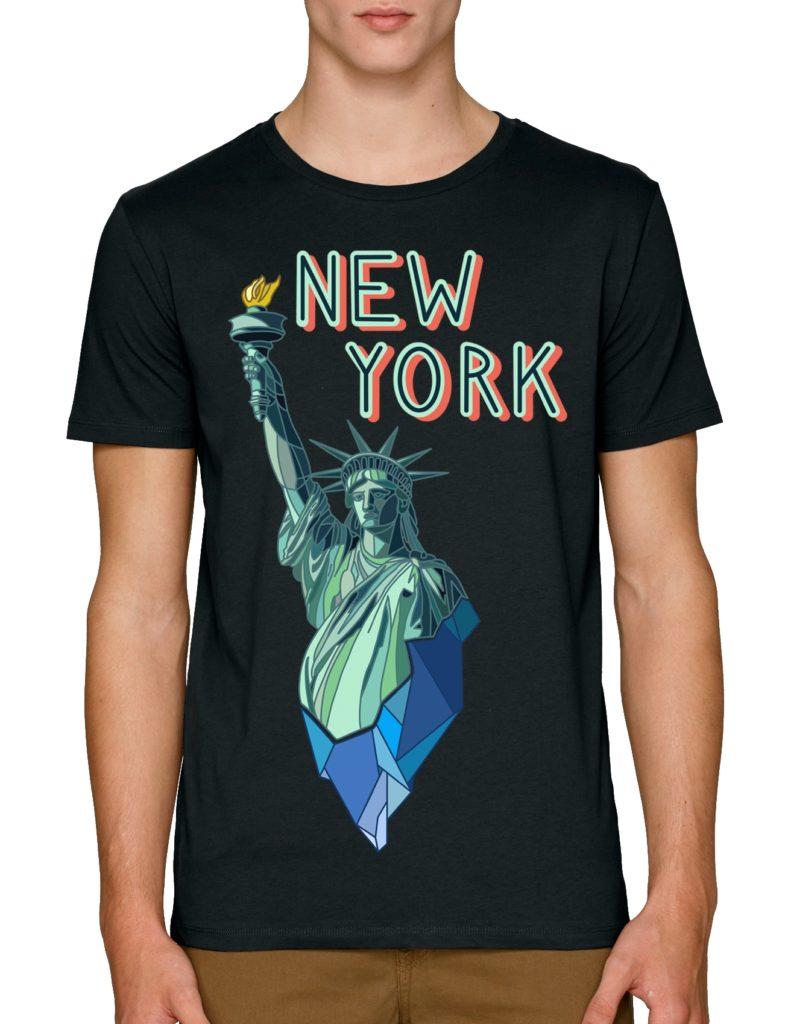 мъжки тениски с щампи Ню Йорк статуя на свободата