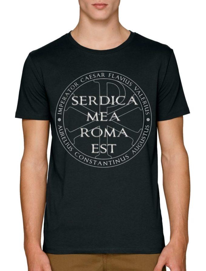 черни мъжки тениски с щампи Сердика